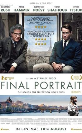Portada de la película Final Portrait. El arte de la amistad