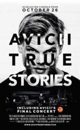 Portada de la película Avicii: True Stories