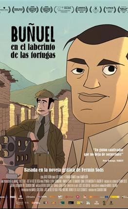 Portada de la película Buñuel en el laberinto de las tortugas