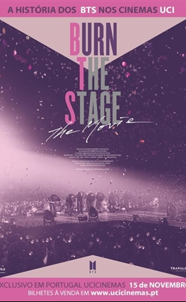 Portada de la película Burn the Stage: La película