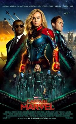 Portada de la película Capitana Marvel