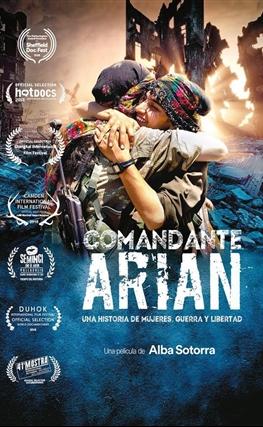 Portada de la película Comandante Arian, una historia de mujeres, guerra y libertad