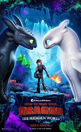 Portada de la película Cómo entrenar a tu dragón 3