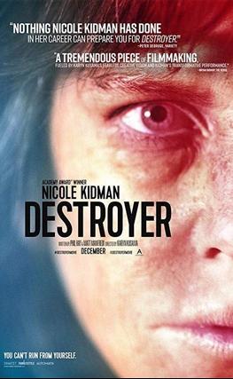 Portada de la película Destroyer. Una mujer herida