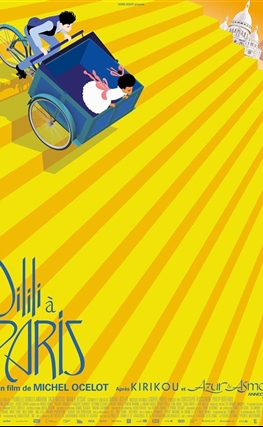 Portada de la película Dilili en París