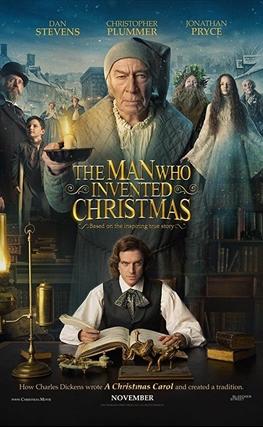 Portada de la película El hombre que inventó la Navidad