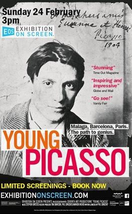 Portada de la película El joven Picasso