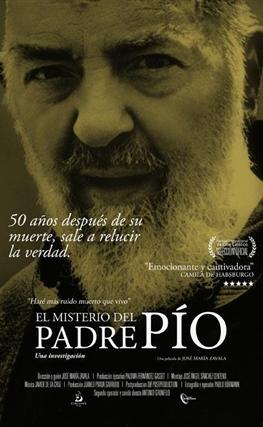 Portada de la película El misterio del Padre Pío