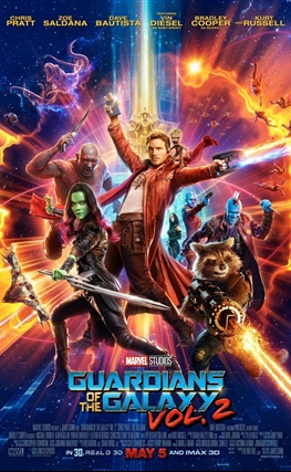 Portada de la película Guardianes de la galaxia Vol. 2