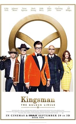 Portada de la película Kingsman: El círculo de oro