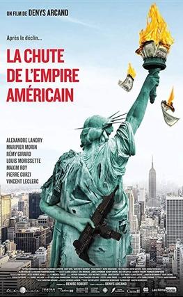 Portada de la película La caída del imperio americano