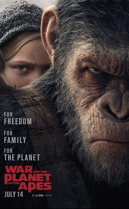 Portada de la película La guerra del planeta de los simios