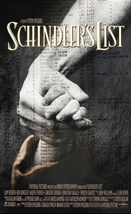Portada de la película La lista de Schindler