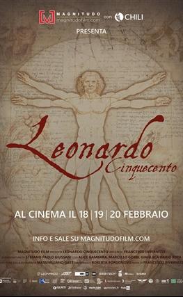 Portada de la película Leonardo. Quinto centenario