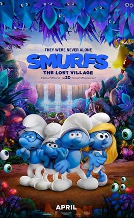 Portada de la película Los pitufos: La aldea escondida