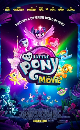 Portada de la película My Little Pony: La Película