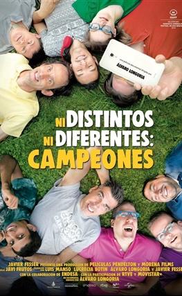 Portada de la película Ni distintos ni diferentes: Campeones