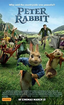 Portada de la película Peter Rabbit