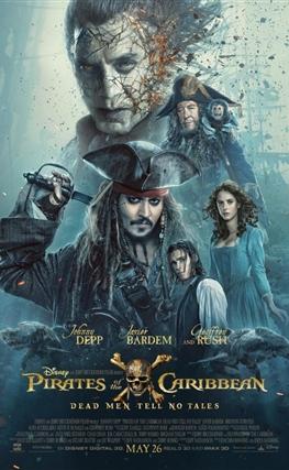 Portada de la película Piratas del Caribe: La venganza de Salazar
