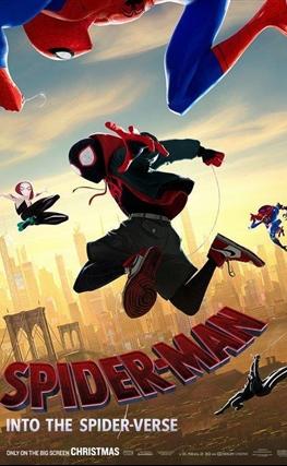 Portada de la película Spider-Man: Un nuevo universo