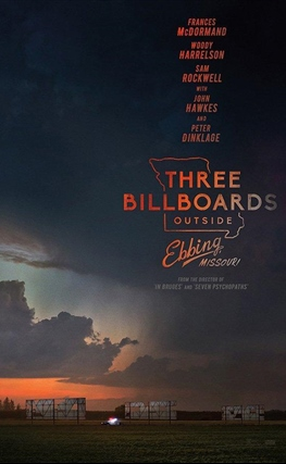 Portada de la película Three Billboards Outside Ebbing, Missouri