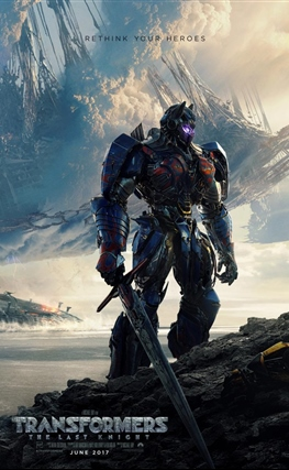 Portada de la película Transformers: El último caballero