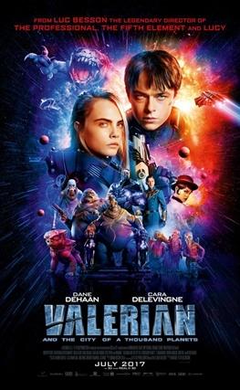 Portada de la película Valerian y la ciudad de los mil planetas