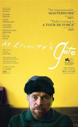 Portada de la película Van Gogh, a las puertas de la eternidad