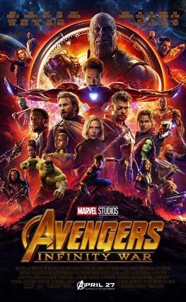 Portada de la película Vengadores: Infinity War