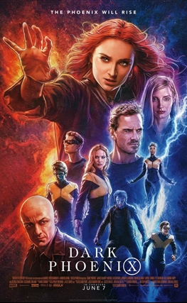 Portada de la película X-Men: Fénix Oscura