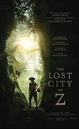 Portada de la película Z. La ciudad perdida